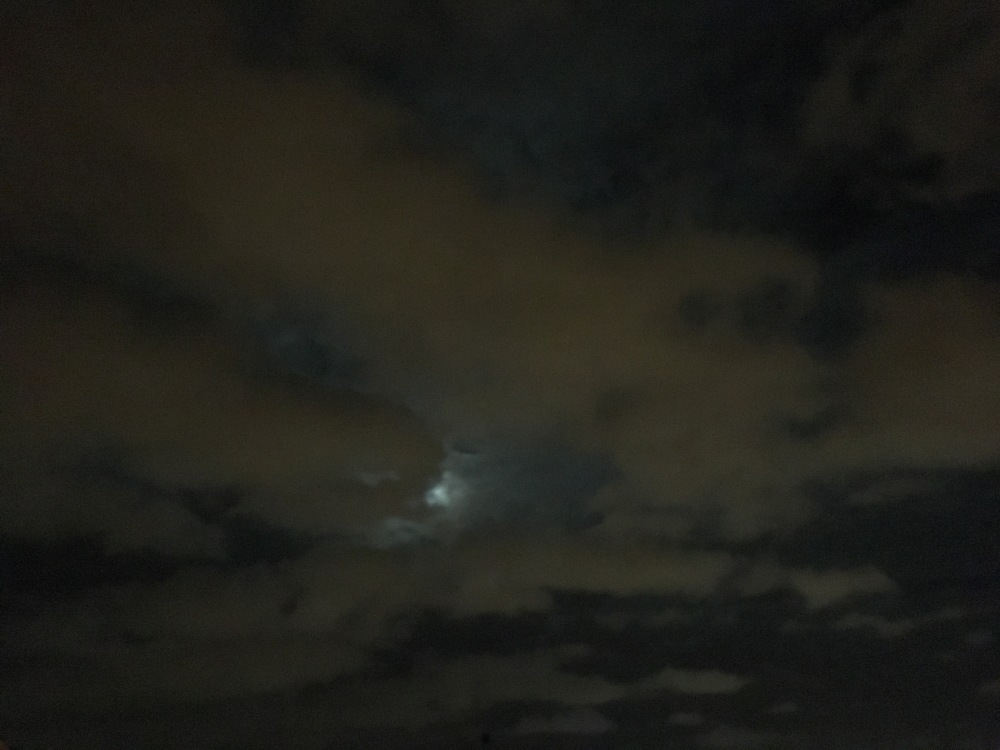 Dark shadows devouring the moon